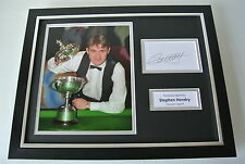 Stephen Hendry SIGNED FRAMED Photo Autograph 16x12 display Snooker & COA