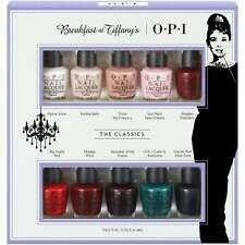 """OPI Breakfast at Tiffany's 2016 Collection Holiday 10 PC Mini """"The Classics"""" Set"""