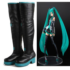 Handmade Vocaloid Hatsune Miku Custom Made Cosplay Boots Cos Costume Shoes