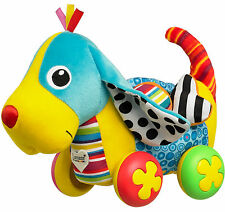Lamaze PIPPIN THE PUSH ALONG PUP Dog Soft Toy Squeak/Rattle Baby/Toddler - BN