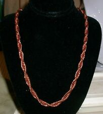"100% Copper  Triple Cable Chain Necklace 24"" NWT"