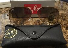 RayBan Ray-Ban Aviator Gold Frame Gradient Brown Lens RB3025 001/51 58MM NEW