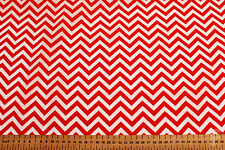 CHEVRONS / ZIGZAGS DESIGN  - PRINTED POLY COTTON FABRIC