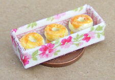 1:12 Scale Plain Donuts In A Box Dolls House Miniature Food Accessory Cake