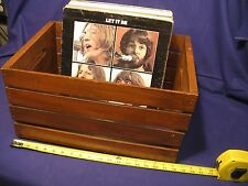 RUSTIC WOOD CRATE  PERFECT FOR RECORD LP STORAGE DISPLAY