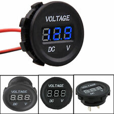 Car Motorcycle Boat Voltage Meter LED Display Panel Digital Volt Meters DC 12V