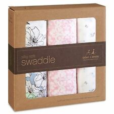 Aden and Anais Bamboo Swaddle 3 Pack - Meadowlark