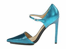 $255 NIB L.A.M.B. Will Gorgeous Teal Leather Shoes sz 7 M