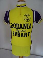 Vintage 70s  Acrylic  cycling jersey  Belgium   Yellow  Size S      038 R