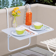 Table De Balcon Suspension Blanc Terrasse Pliante Jardin