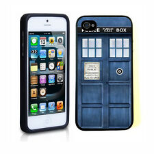 Doctor Who Tardis Police Call Box Rubber Soft Case TPU Cover For iphone 4 4S