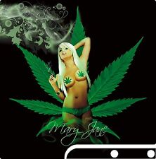 PlayStation 3 PS3 Slim SEXY CANNABIS GIRL Vinyl Sticker Skin