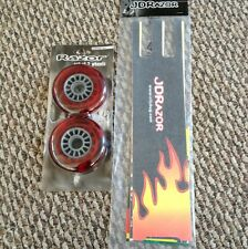 RAZOR 100mm SCOOTER WHEELS AND GRIP TAPE AND STICKERS PACKAGE