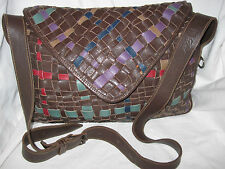 "AUTHENTIQUE  sac besace  cartable A4  ""PIERO GUIDI""  cuir  TBEG   bag vintage"