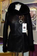 Luxus Designe Damen echte Lammfelljacke  mit  Kapuze  Gr 40 NEU