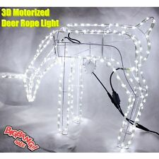 3D Grazing Moving Motorised Deer Rope Light Warm White Xmas Light