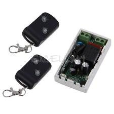 New AC 220V RF Wireless Remote Control Switch Receiver+2 Remote Transceiver 1CH
