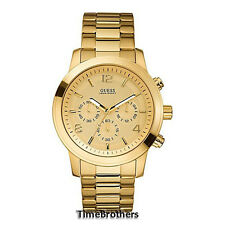 NEW GUESS WATCH for Men * Chronograph * All Gold Tone Stainless Steel * U15061G2
