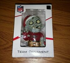 NFL Football Team Forever Collectibles Logo Zombie Ornament San Fransisco