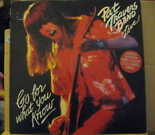 PAT TRAVERS BAND live GO FOR WHAT YOU KNOW red vinyl