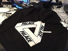 PALACE SKATEBOARDS X-LARGE XL SS16 CLASSIC TRI FERG HOODIE BLACK WHITE OG FLOCKA