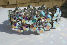 KIRKS FOLLY GALA GARDEN  CRYSTAL STRETCH BRACELET NWOT AVG
