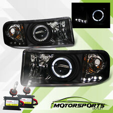 [LED Halo]1994-2001 Dodge Ram Projector Headlights+6000K Slim HID Set