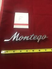 OEM 1972-1976 Mercury Montego Name Trunk Lid & Fender Emblem (73 74 75)
