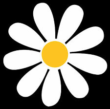 Large Daisy - car sticker decal graphic transfer camper van flower retro art VW