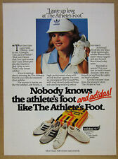 1982 Adidas Grand Prix Boston Lady Smith shoes Athlete's Foot vintage print Ad
