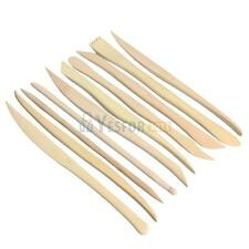 10PCS Wooden Clay Sculpture knife Pottery Sharpen Modeling Tools Set  #3YE