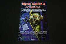 Iron Maiden Maiden Hell Enhanced CD ROM Album Advertisement NWOBM RARE HTF OOP
