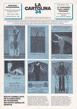LA CARTOLINA N.34 - Rivista 1989 - Cambellotti Laskoff YMCA Libri