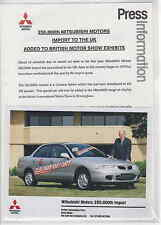 MITSUBISHI PRESS release & photo 1996 - cheap and cheerful - POSTFREE UK.
