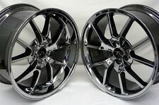 "20"" Black Chrome Mustang FR500 Wheels Staggered 20x8.5 20x10 5X114.3 Rims 05-16"