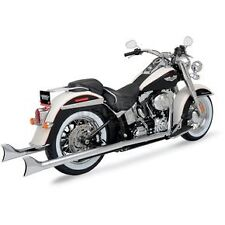 "89-06 Softail Bassani True Duals Full Exhaust, 1 7/8"" x 36"" Fishtails  1S16E-36"