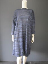 DANIELA GREGIS  100 % linen dress New with TAG chiné blue & black