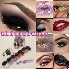 Glitter eyes and Lips Combo Makeup Set, 7 HOT colours,2 x Fix Gels + Lip Glue