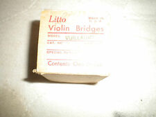 Litto Violin Bridges Vuillaume Vintage box containing 9 new bridges