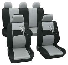 Silver & Black Stylish Car Seat Cover Set - BMW 3-Series E90-E92 2005 Onwards