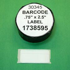 1 Roll  BARCODE LABEL fit DYMO 1738595 / 30345 - BPA Free