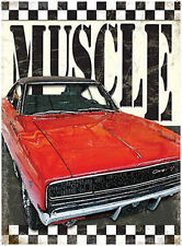 Muscle Car, Dodge Charger, American Retro Car Garage Old, Small Metal/Tin Sign