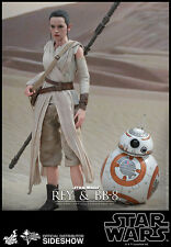 "Hot Toys Star Wars: The Force Awakens REY & BB-8 Figure Set 1/6 Scale 12"" MMS337"