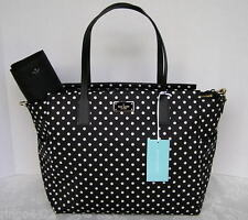 Kate Spade Blake Avenue Taden Large Baby Diaper Bag Diamond Dot Black NWT