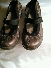 Privo Women's Mary Jane Ballet Flats Loafer Shoes Size 6 Pewter Leather