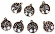 TEN  3/4 INCH TREE OF LIFE ANTIQUED COPPER COLOR FOCAL PENDANT CF713