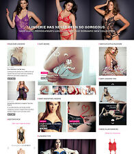 LINGERIE Designer Brands Shopping Affiliate website for sale Mobile friendly