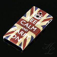 Sony lt22i xperia p Hard Case Housse de protection pour téléphone portable Motif étui Keep Calm Carry On