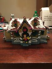 DISNEY Lighted Mickey Mouse Christmas Village RARE Holiday Home From 2003