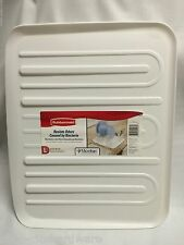 NEW RUBBERMAID LARGE WHITE SLOPED MICROBAN DISH DRAINER TRAY MAT DRAIN BOARD